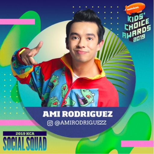 Ami rodríguez  nominado en los  kids' choice awards usa 2019