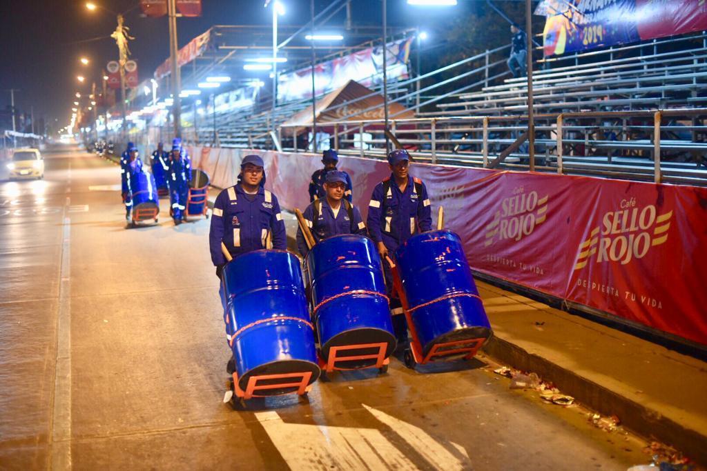 Triple a recogió 3% menos de basura en el carnaval 2019