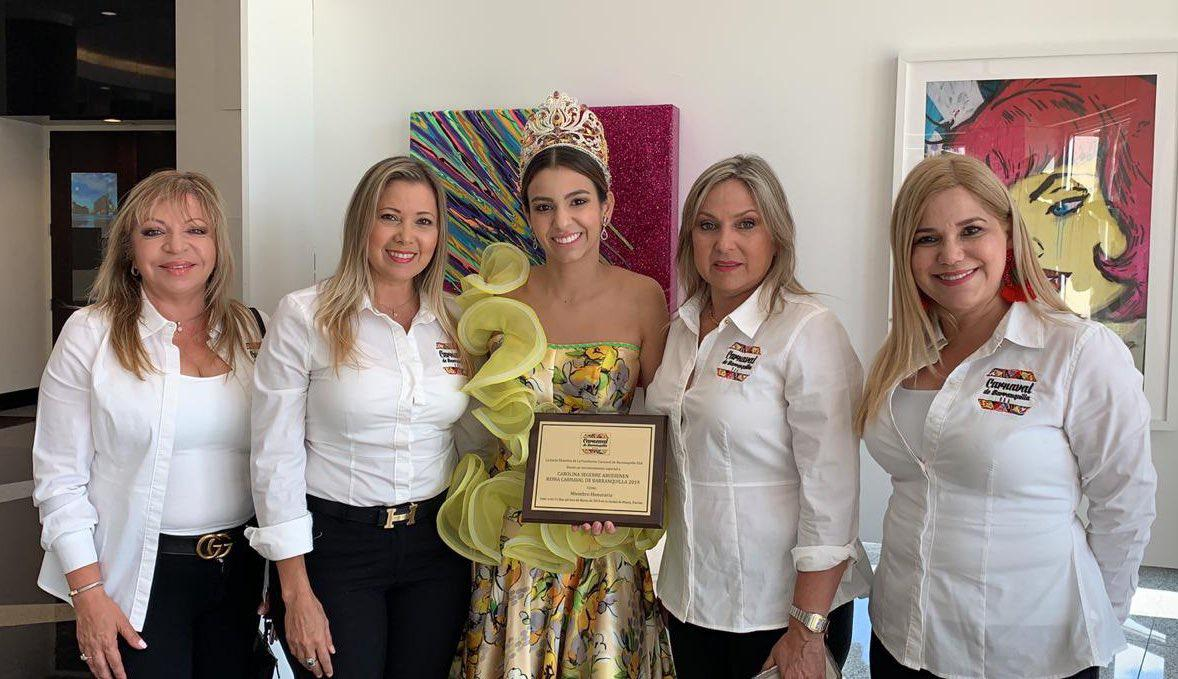 Carolina Segebre Abudinen, Embajadora universal del Carnaval de Barranquilla