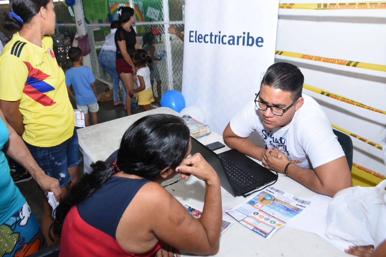 Electricaribe participó en jornada de  atención integral en Las Gardenias