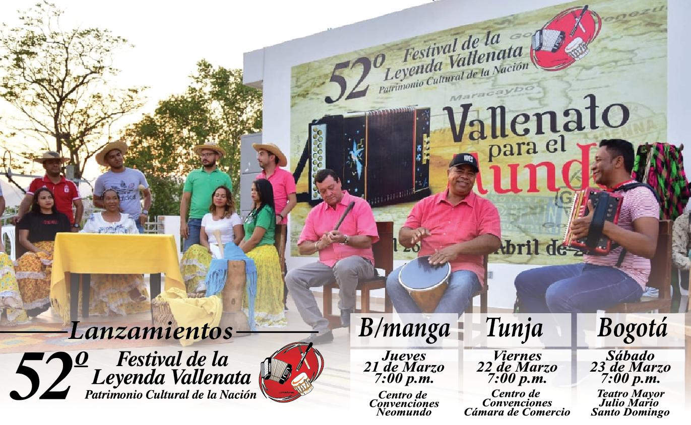Parrandas vallenatas para el mundo en las ciudades de Bucaramanga, Tunja y Bogotá