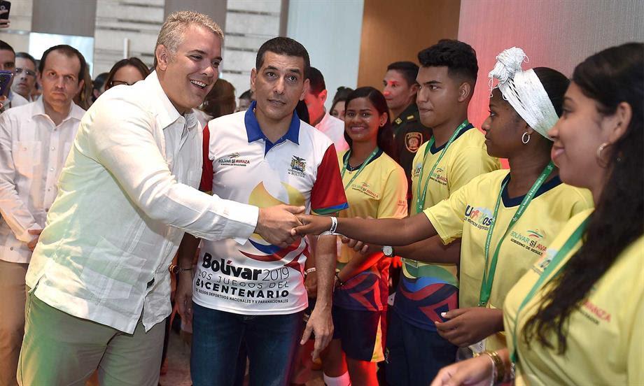 Los Juegos Nacionales son de los deportistas y no de los contratistas', afirmó el Presidente Duque