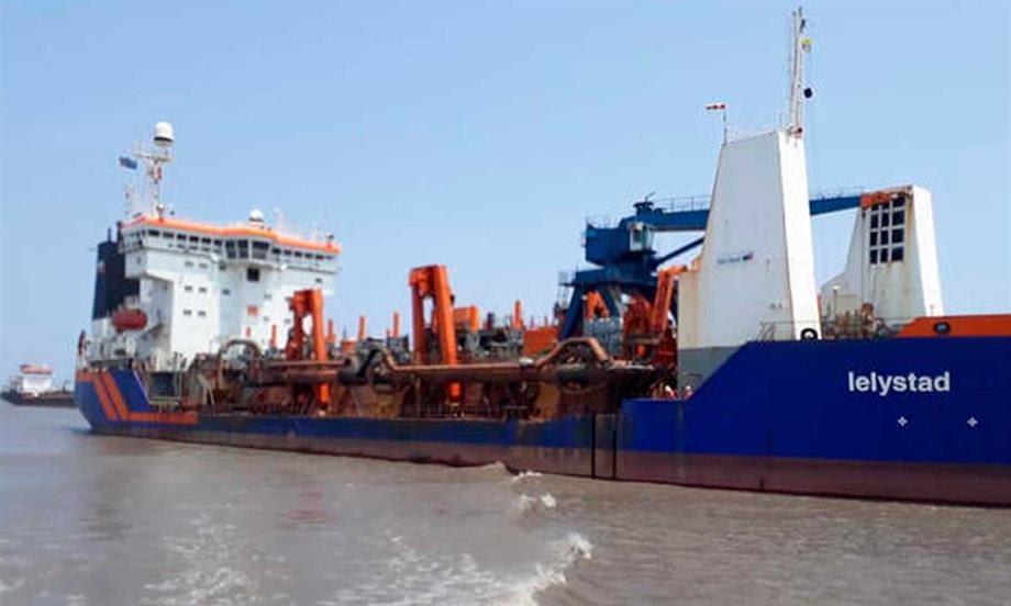 Avanzan trabajos de dragado en canal de acceso al Puerto de Barranquilla