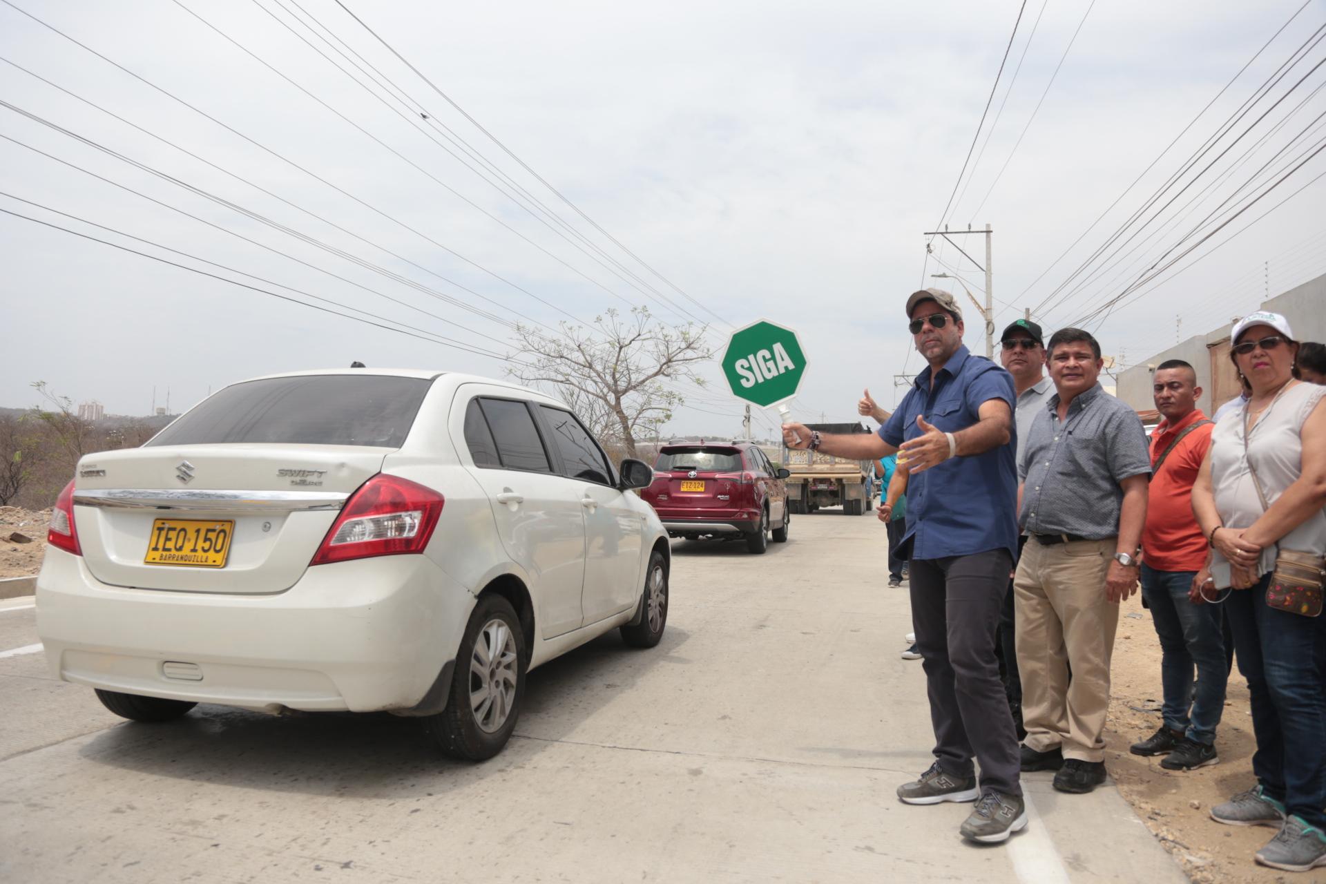 Alcalde Char habilitó vía a Juan Mina, en tramo de la carrera 38 desde Circunvalar hasta calle 120