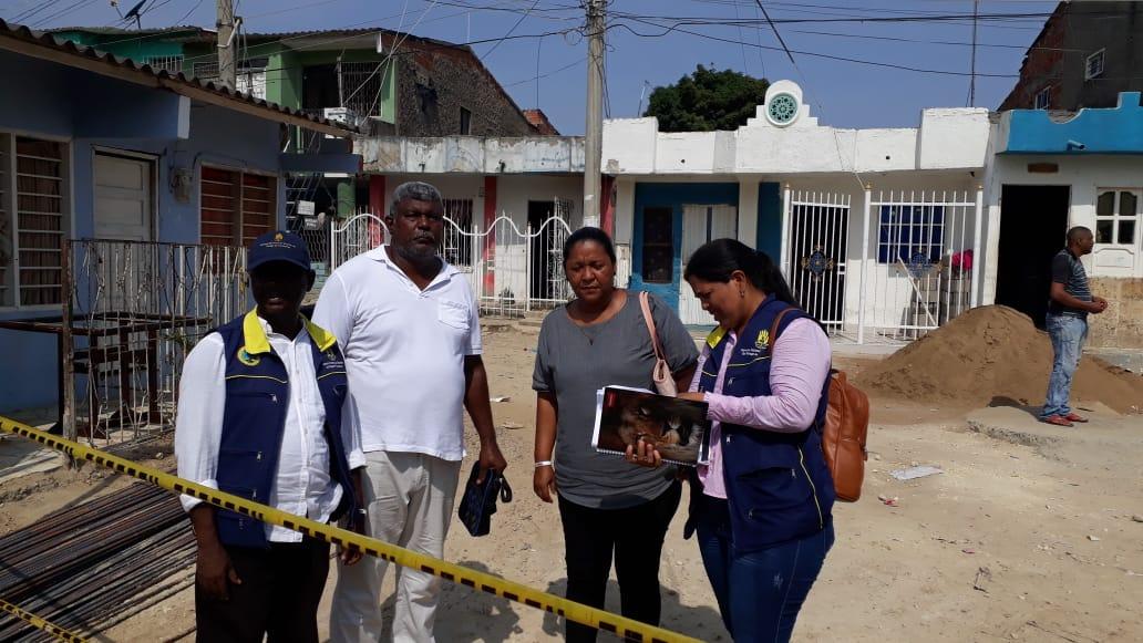 En Cartagena, Oficina de Gestión del Riesgo mantiene monitoreando obras del canal de Ceballos