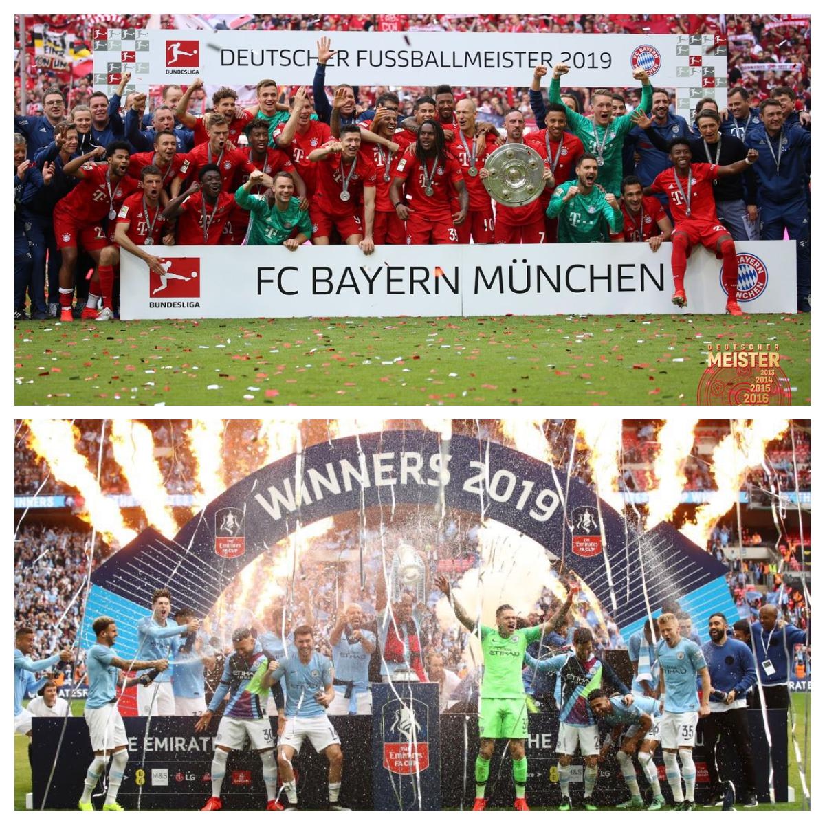 Bayern Munich y Manchester City los campeones de la fecha