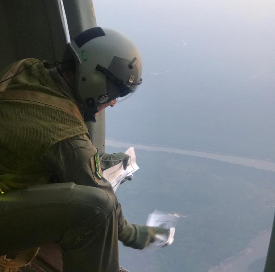 uerza Aérea Colombiana ha lanzado más de 90.000 volantes de desmovilización en Vichada durante el 2019