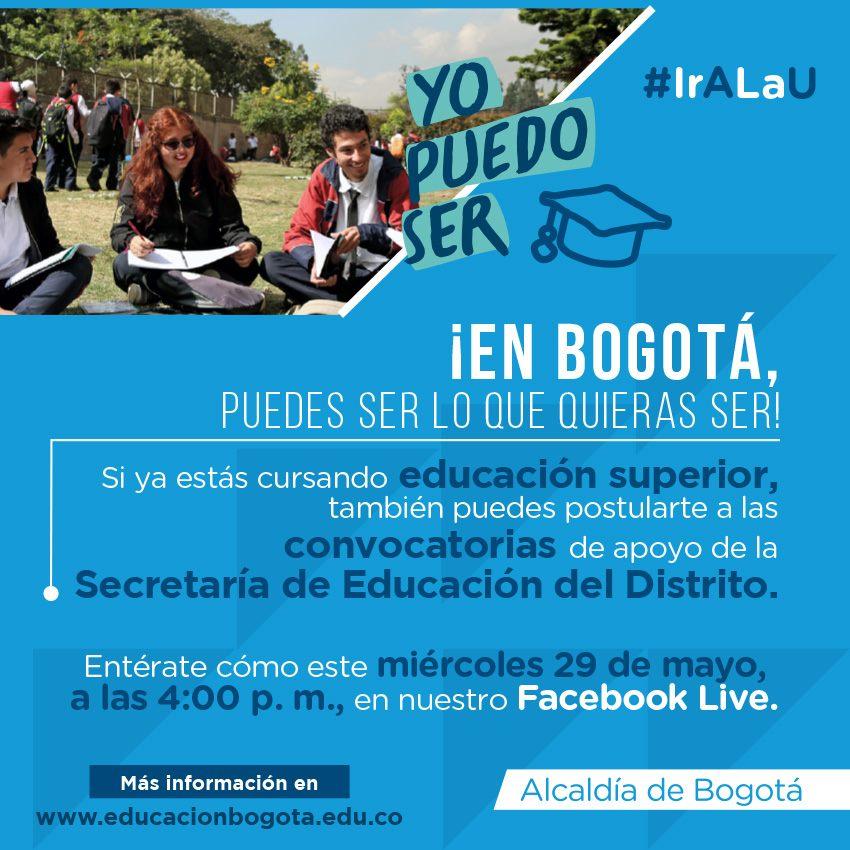 Convocatorias para créditos beca de educación superior en Bogotá