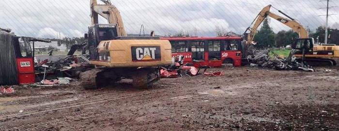 Chatarrización de buses TransMilenio que operaban desde hace 19 años
