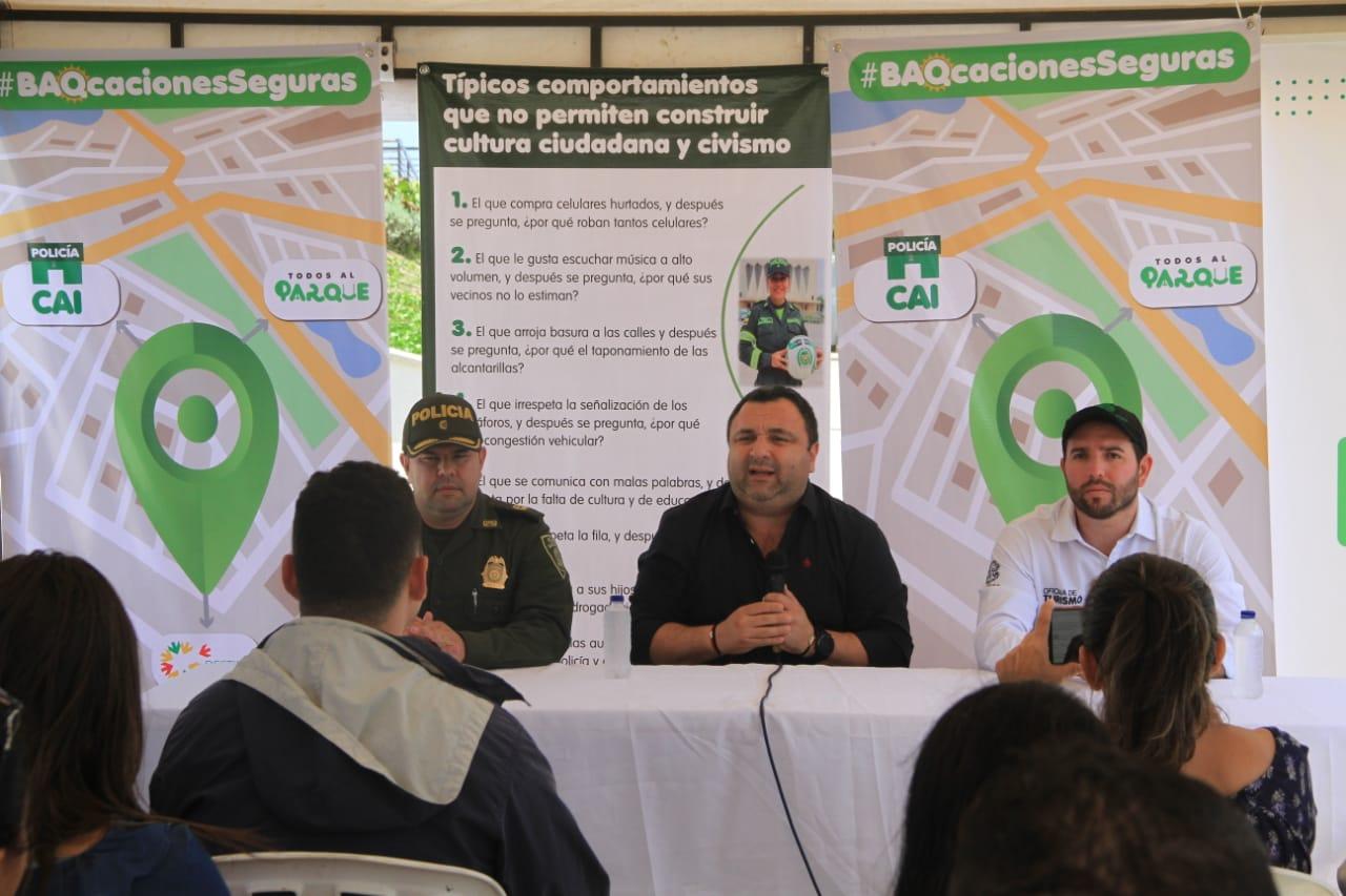 Autoridades lanzan plan 'BAQACIONES SEGURAS' para el disfrute en sana convivencia