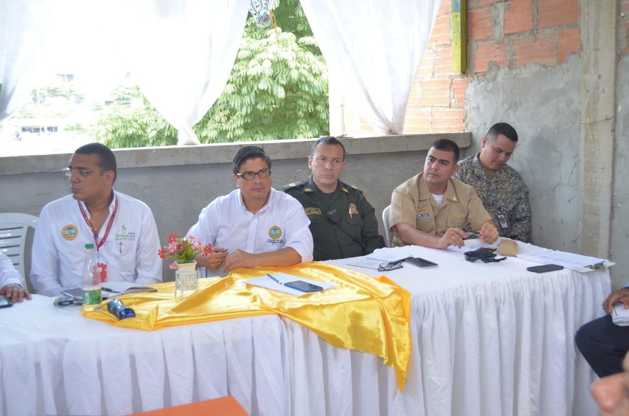 Consejo Comunitario en el barrio Albornoz de Cartagena