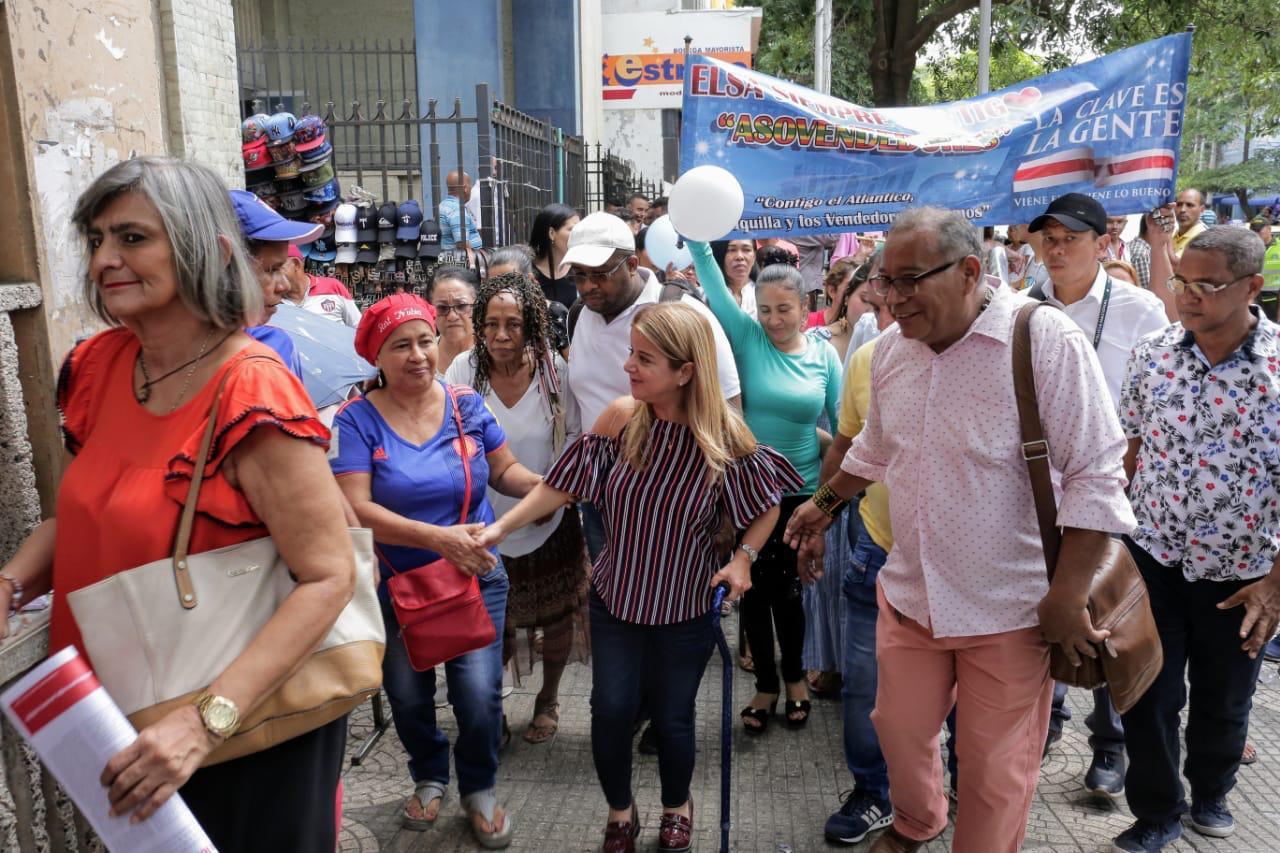 Con créditos blandos mejoraremos nivel de vida de los comerciantes del centro de Barranquilla : Elsa Noguera