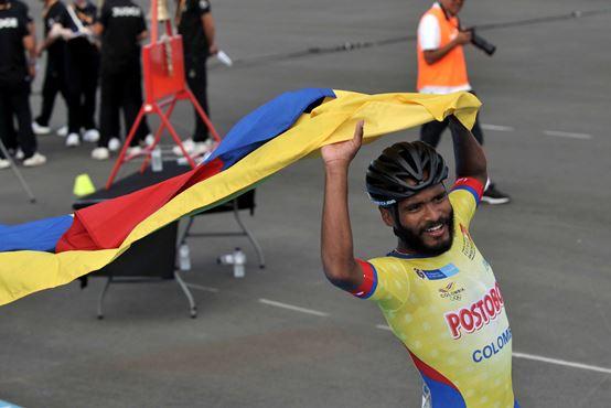 Alex Cujavante, del Team Barranquilla, campeón mundial en los World Roller Games en Barcelona