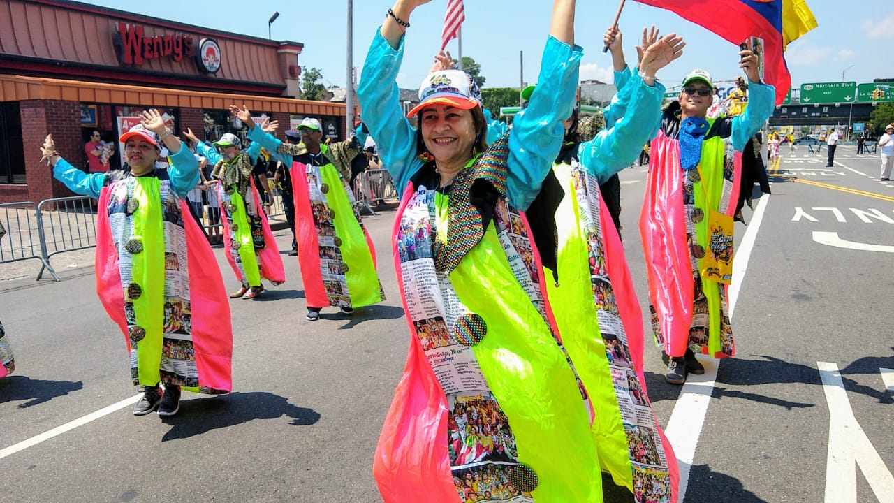 Carnaval estuvo en el Desfile colombiano en New York