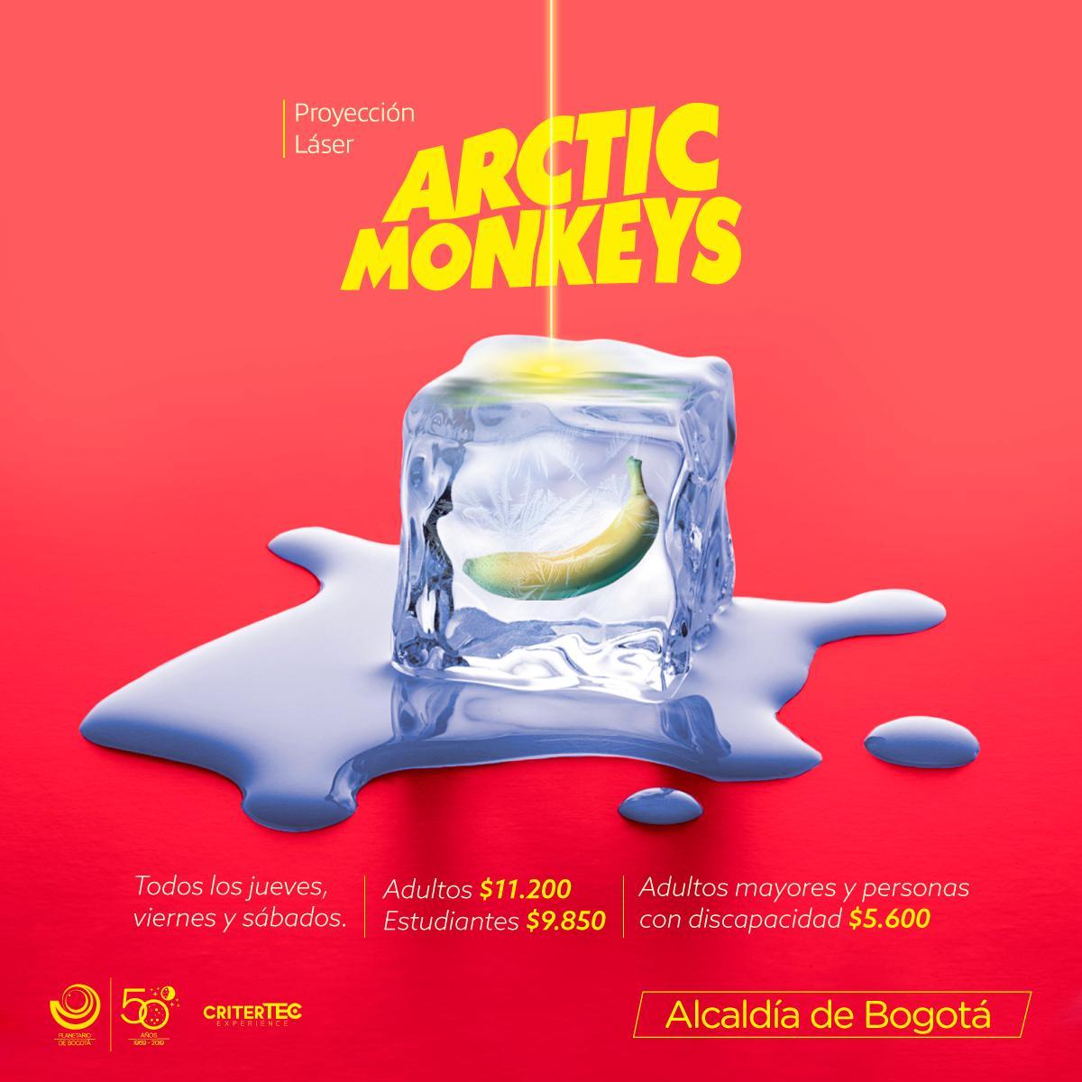 Llega al Planetario de Bogotá un show láser de Arctic Monkeys