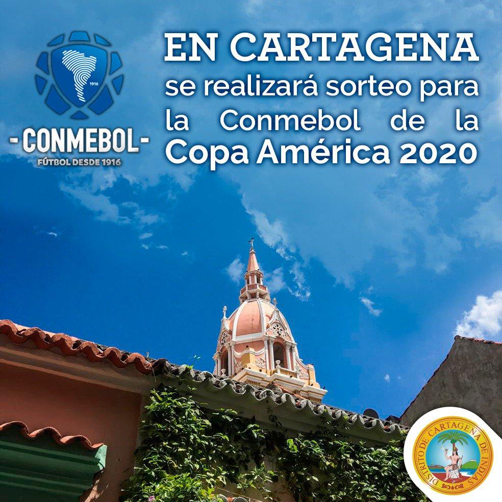 El sorteo de la Copa América 2020 será en Cartagena