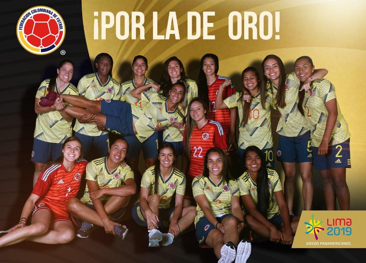 Selección Colombia de oro en fútbol femenino