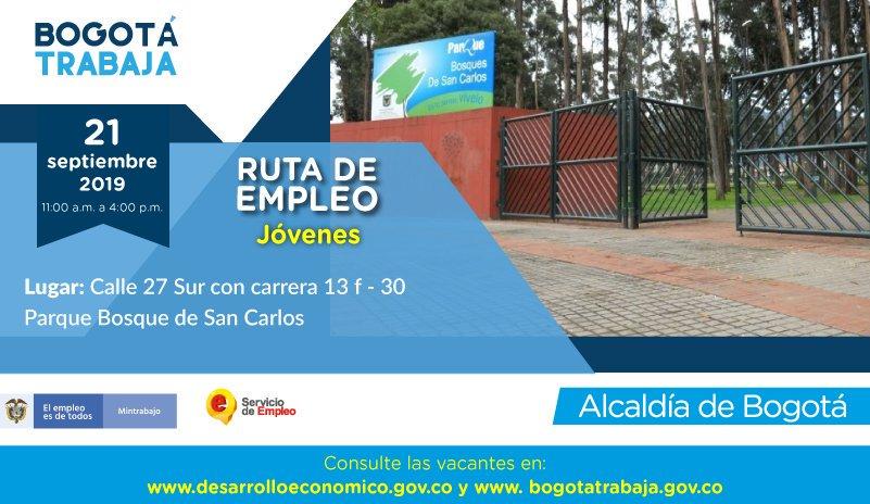Convocatoria de empleo para jóvenes en Bogotá