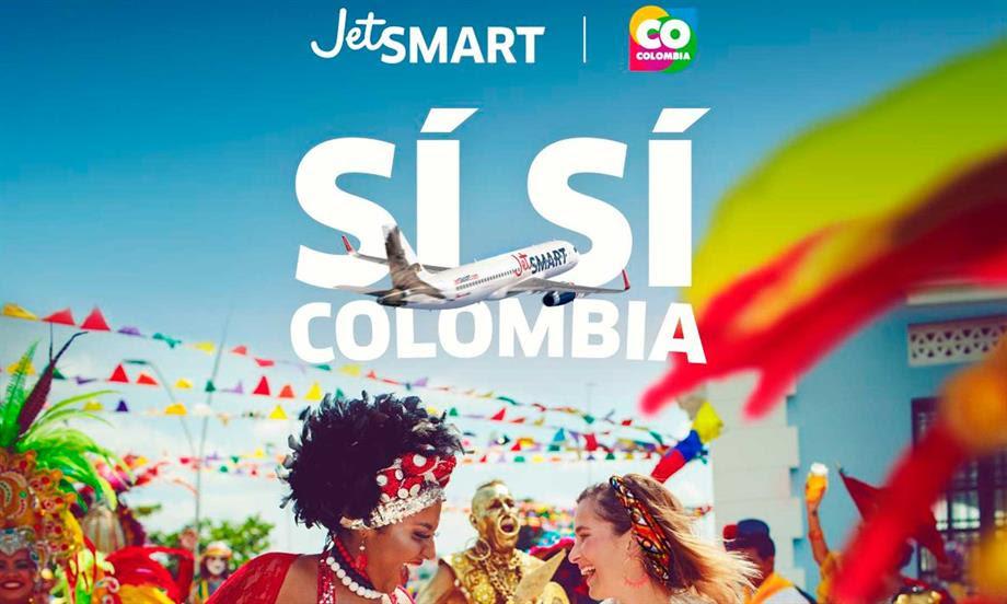 JetSMART aterrizó en Colombia e iniciará operaciones a partir de diciembre