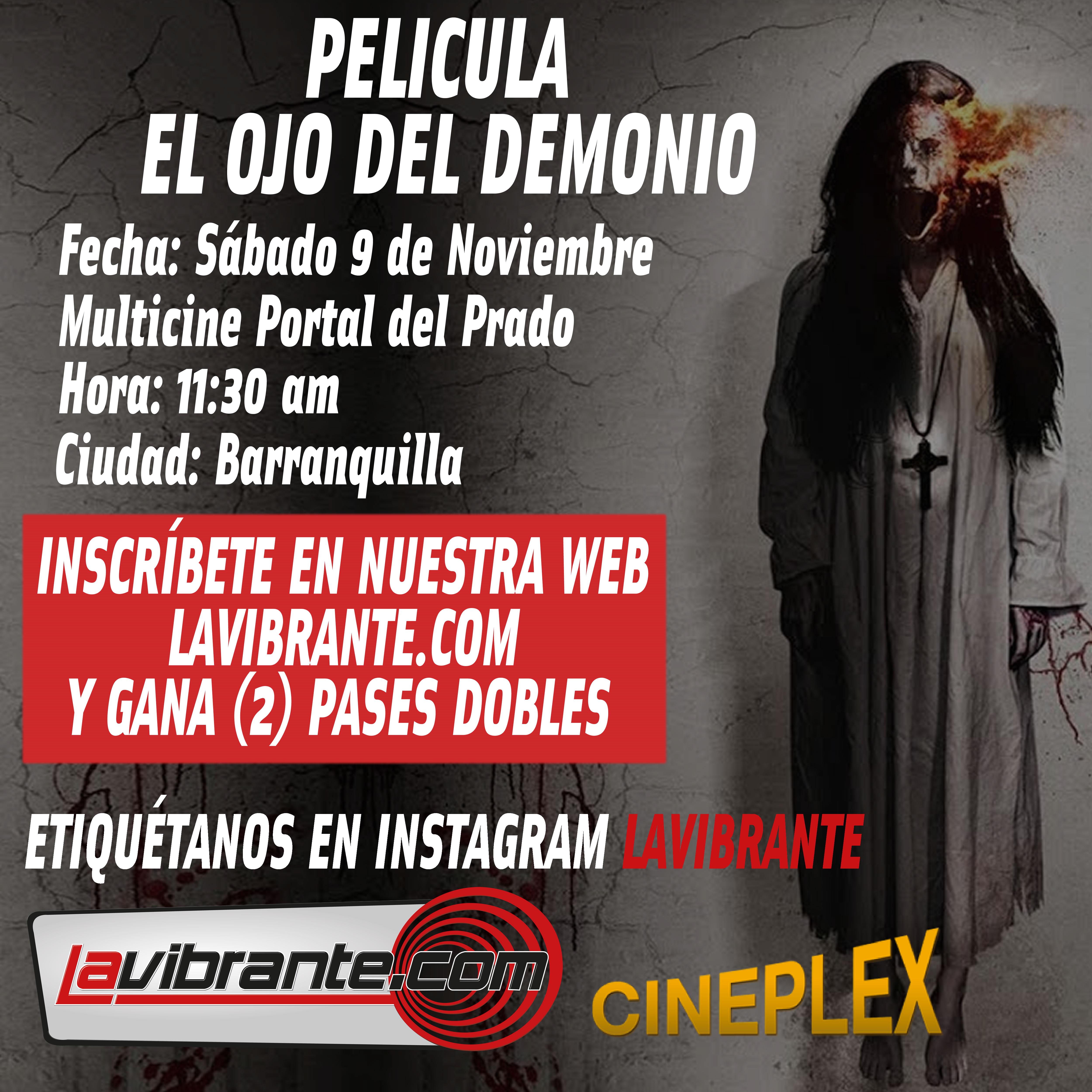 «Ojo del Demonio», gana pases dobles con lavibrante.com y Royal Films para el 9 de Noviembre