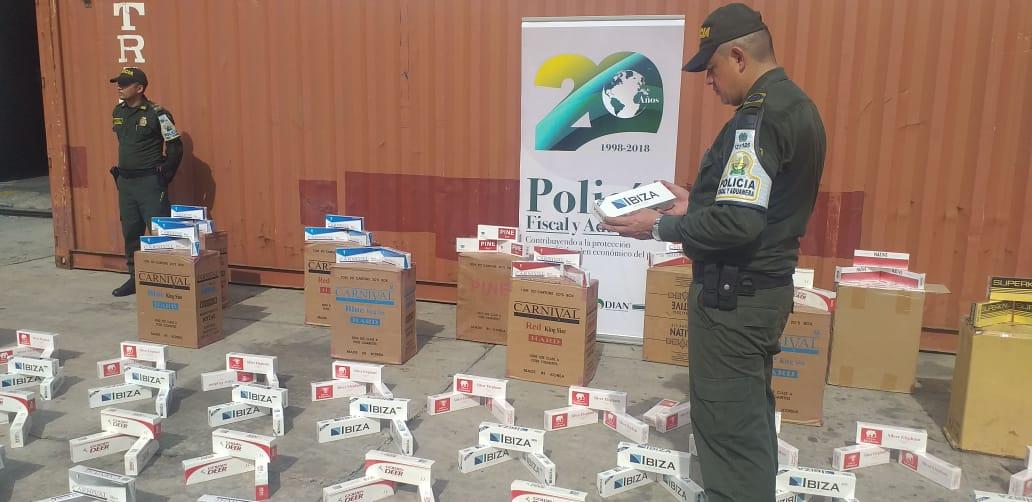Contundente golpe al contrabando de cigarrillos en barranquilla