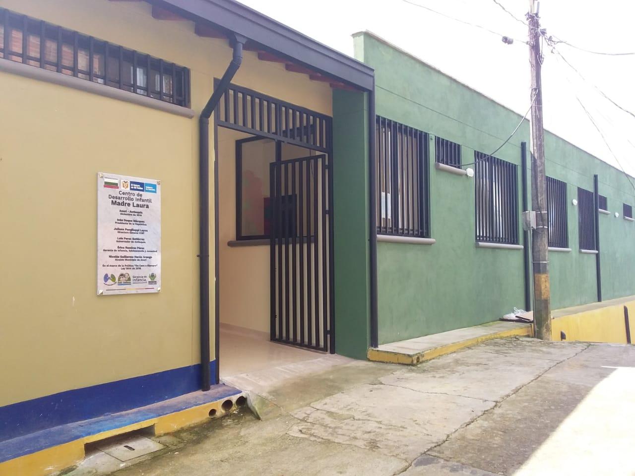 El nuevo Centro de Desarrollo Infantil Madre Laura  abre sus puertas en Anorí