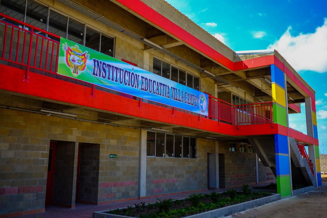Con 'Colegio 10', Alcaldía, Gobernación y Nación hacen realidad el sueño de Villa Campo en Malambo