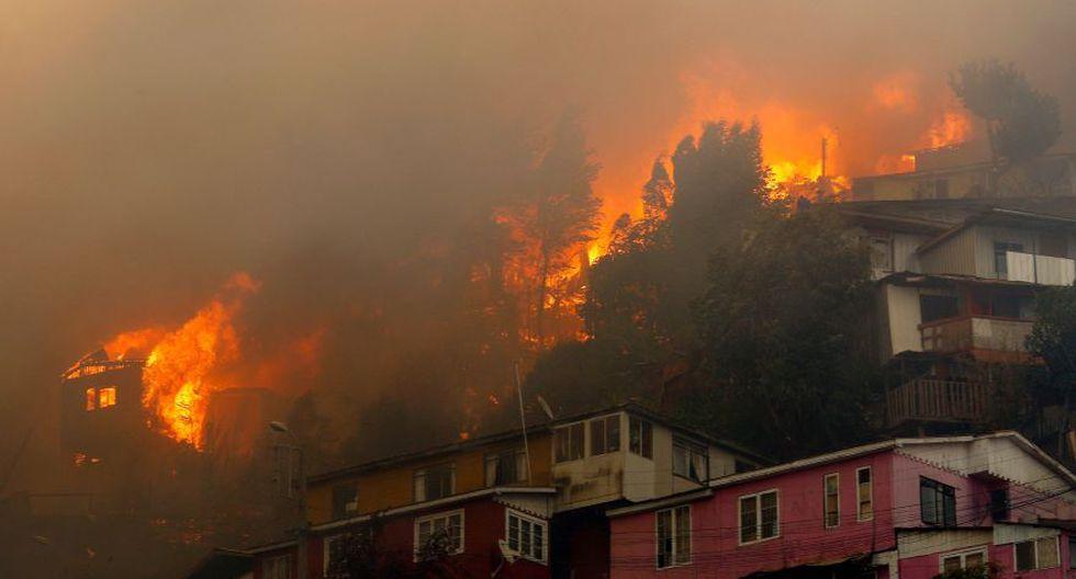 Incendio en Chile interrumpe la navidad