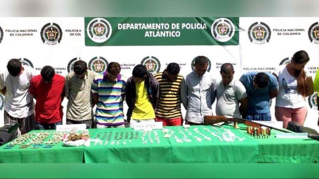 Capturan a diez personas por hurto y venta de drogas en Baranoa y Sabanalarga.