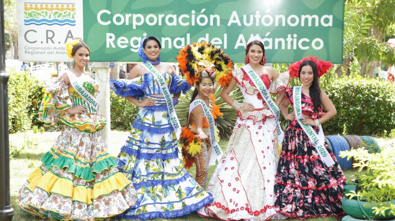 """CRA designó """"Embajadoras ambientales"""" a reinas municipales del Carnaval"""