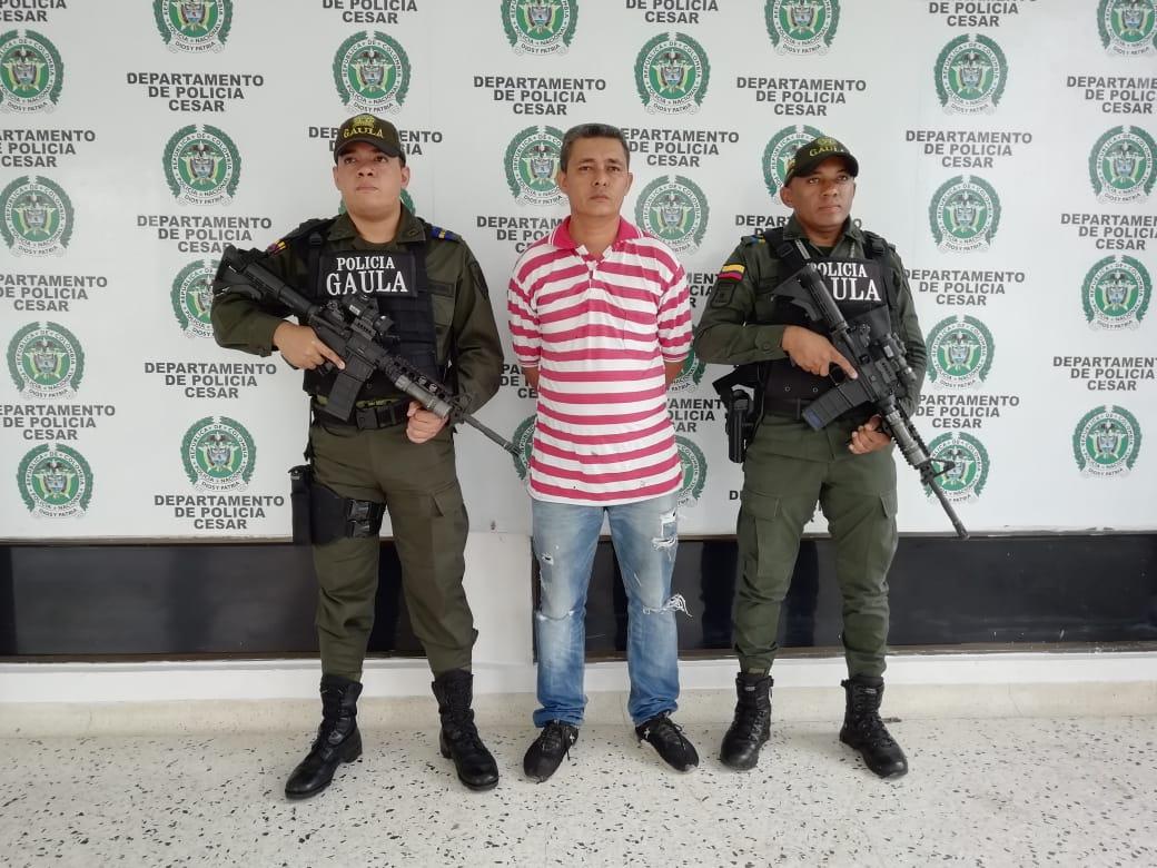 Sujeto fue capturado por extorsionar a un comerciante en El Copey, Cesar