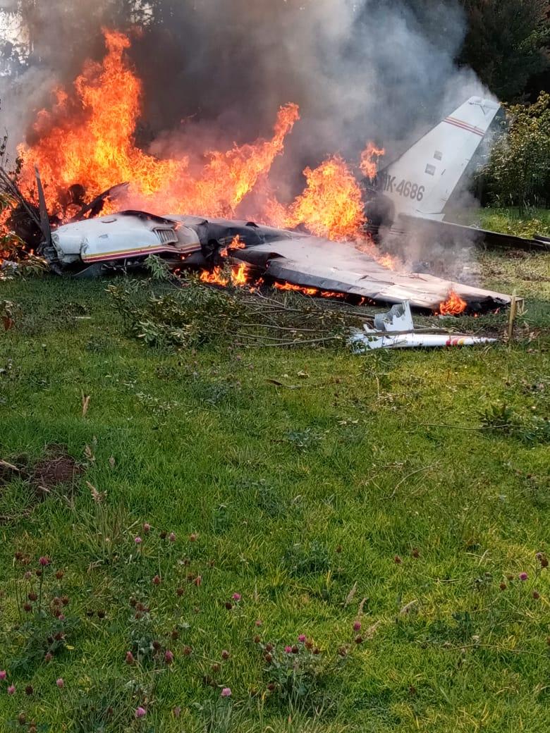 Accidente de una avioneta deja 4 personas muertas en Bogotá