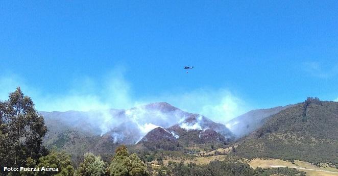 Se reportan cinco incendios activos en Cundinamarca