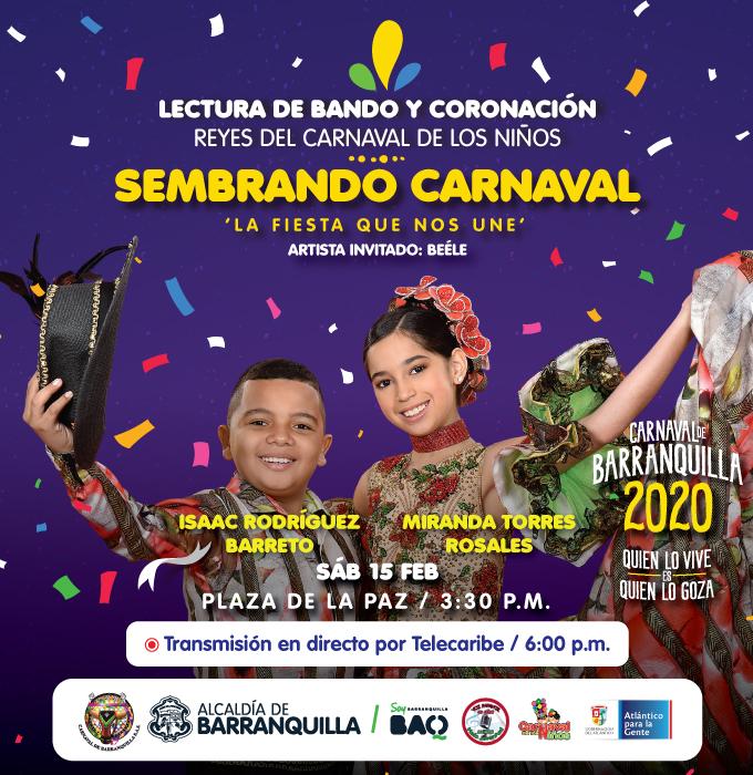 Hoy y mañana en la plaza de la paz carnaval para niños