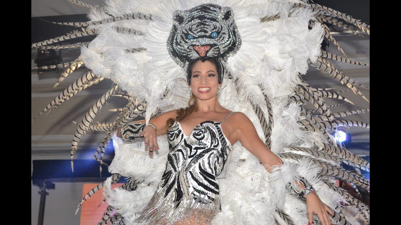 Isabella Chams presentó su 'Rugido de Carnaval', vestimenta para la Guacherna 2020