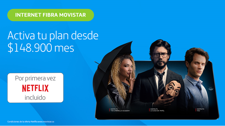 Netflix y Movistar se asocian para ofrecer planes incluyendo membresías en Netflix