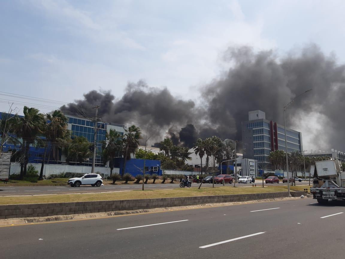 Incendio en la planta de Tecnoglass fue reportado