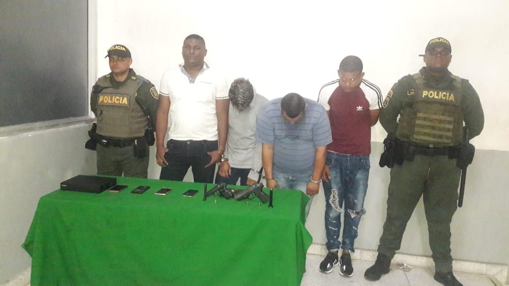 Policía de Barranquilla capturó a cuatro delincuentes que robaban en el barrio Las Palmas