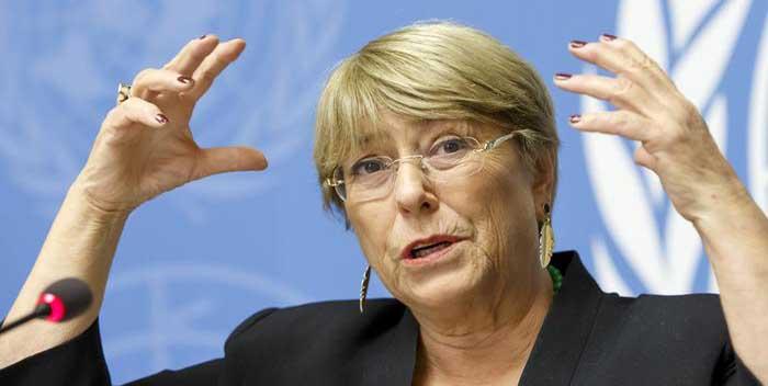 Michelle Bachelet: hace un llamado a Colombia, al diálogo y pide «investigación independiente» en casos de lesiones y muertes en Cali
