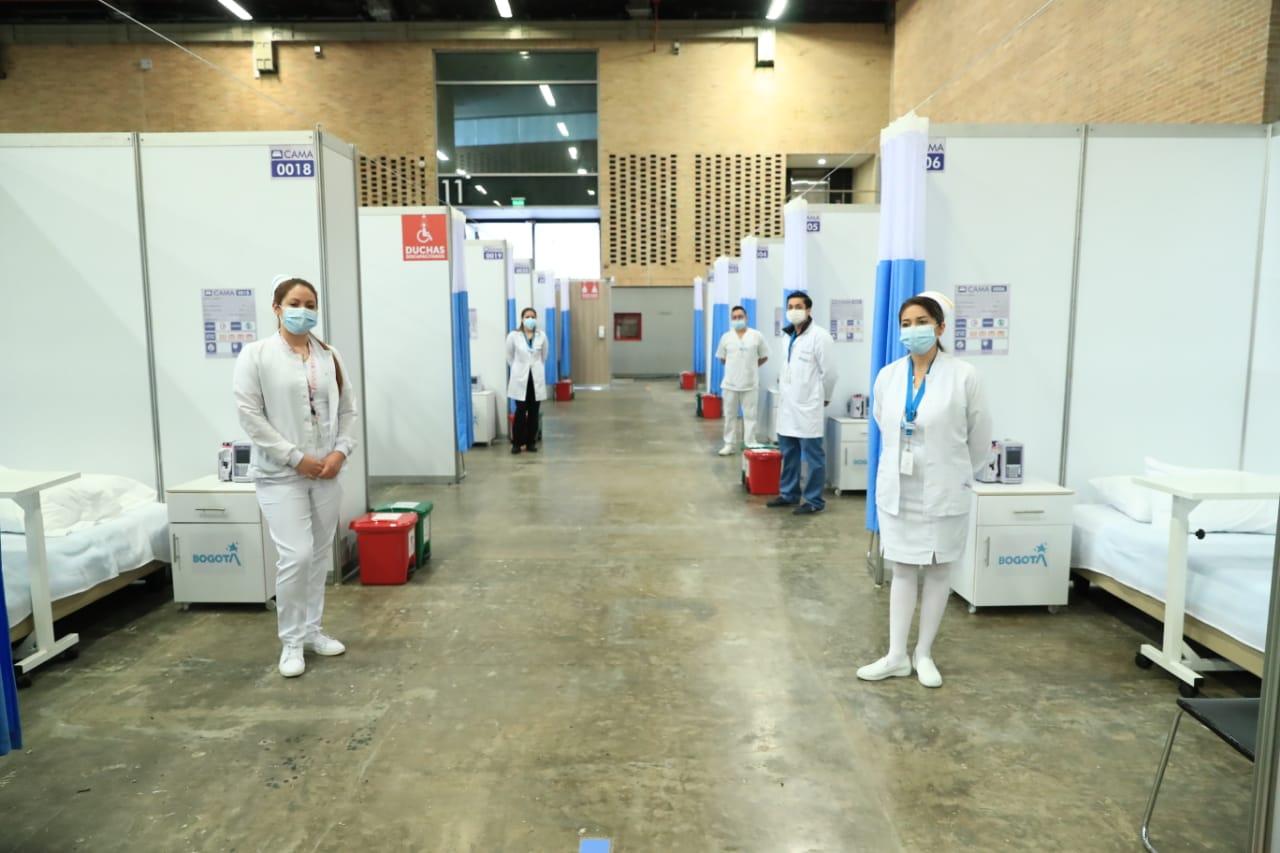 Centro Hospitalario transitorio ubicado en corferias abre sus puertas a Bogotá
