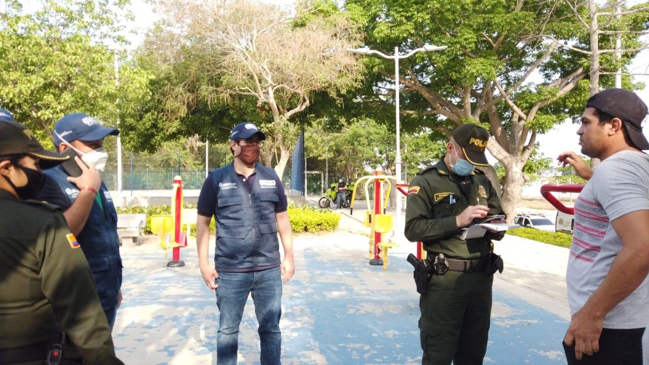 Más de 1300 sanciones en Barranquilla a quienes no han respetado nuevas medidas de aislamiento físico