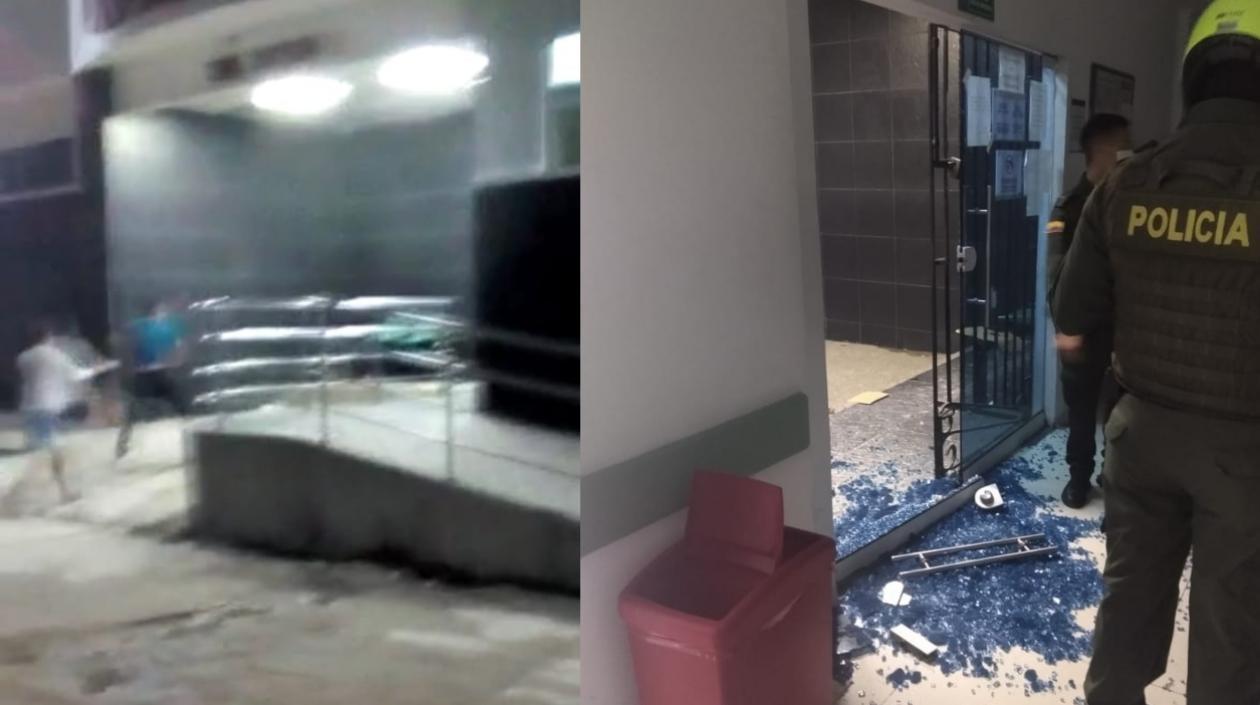 Familiar de paciente fallecido partió con una piedra puerta de la Clínica Porvenir y fue capturado