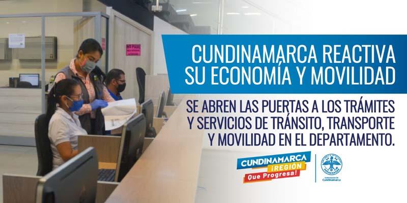 Cundinamarca reabre las puertas nuevamente para atender servicios de Transito, Transporte y Movilidad