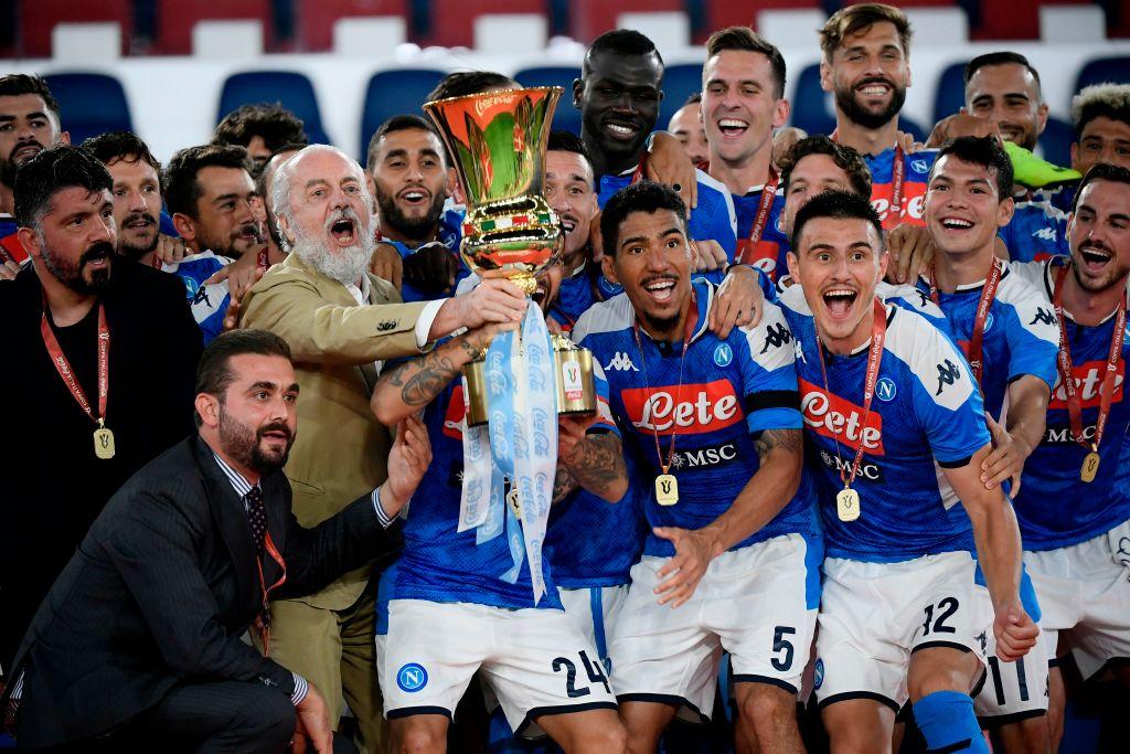 Napoli campeón de la Copa de Italia tras vencer a Juventus