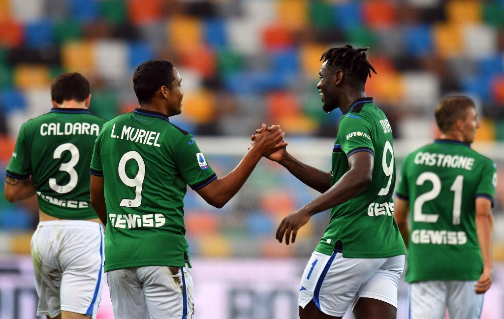 Atalanta ganó 3-2 ante Udinese con goles de Muriel y Zapata