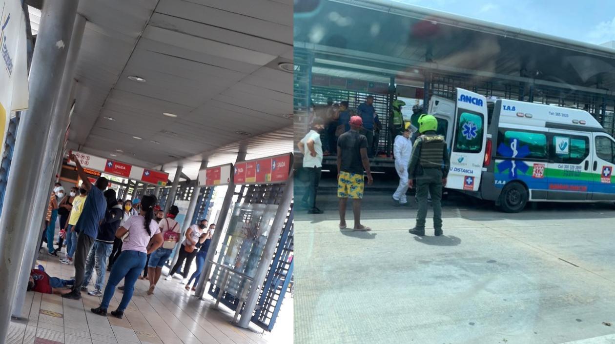 Usuario de @TransmetroBAQ se desmaya en estación y murió durante la atención médica