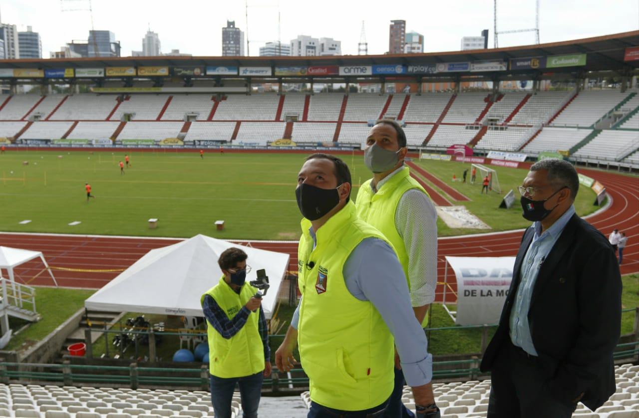 En la @CiudadManizales las autoridades visitaron los escenarios deportivos que servirán para los Juegos Nacionales y Para nacionales 2023