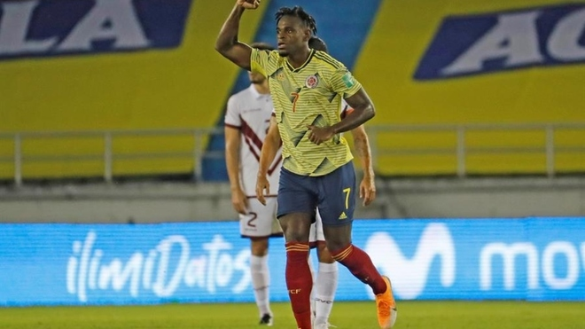 Colombia goleó a Venezuela en su debut de las eliminatorias