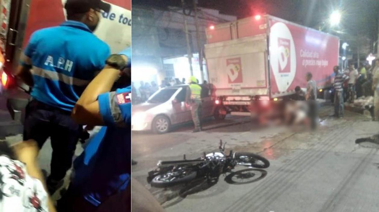 Falleció mototaxista al chocar con camión en la carrera 21