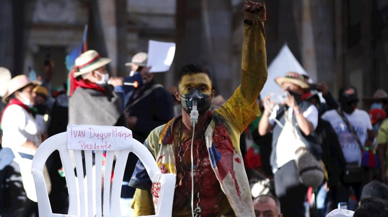 """Indígenas le hicieron """"juicio político"""" al Presidente Duque por no escucharlos"""
